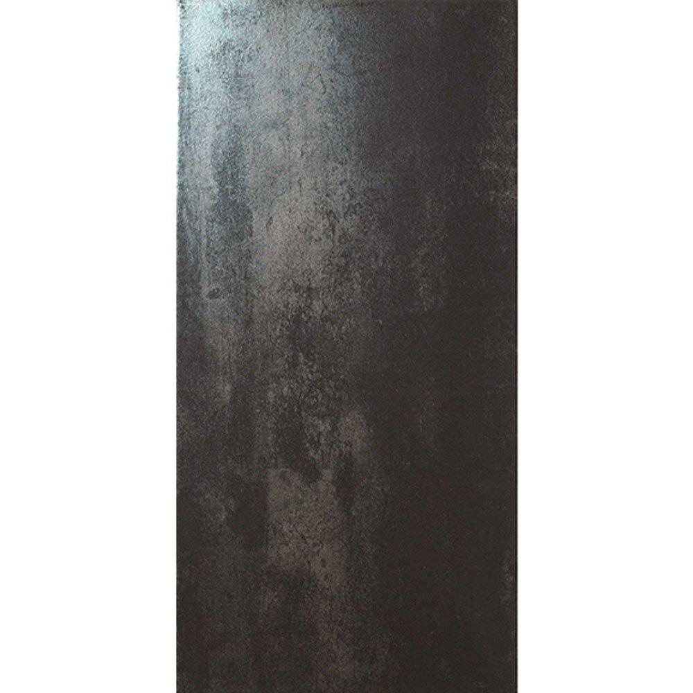 Revestimiento 30x60 cm negro serie titanium ref 17010525 for Rodapie negro
