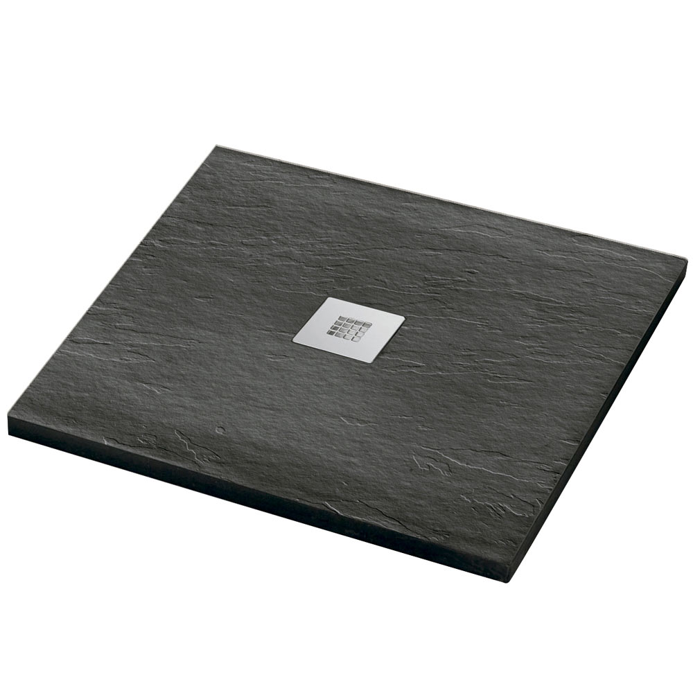 Plato de ducha carga mineral urban cuadrado ref 16810766 for Ducha jardin leroy merlin