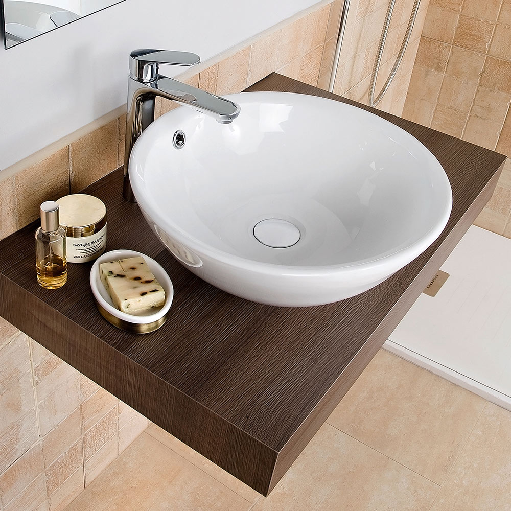 Lavabo de ba o serie castellon ref 12745061 leroy merlin for Muebles de lavabo de 50 cm