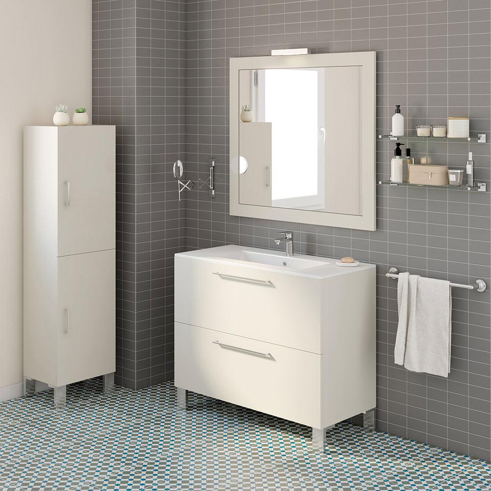 Mueble de lavabo aida ref 17923990 leroy merlin for Mueble auxiliar lavabo