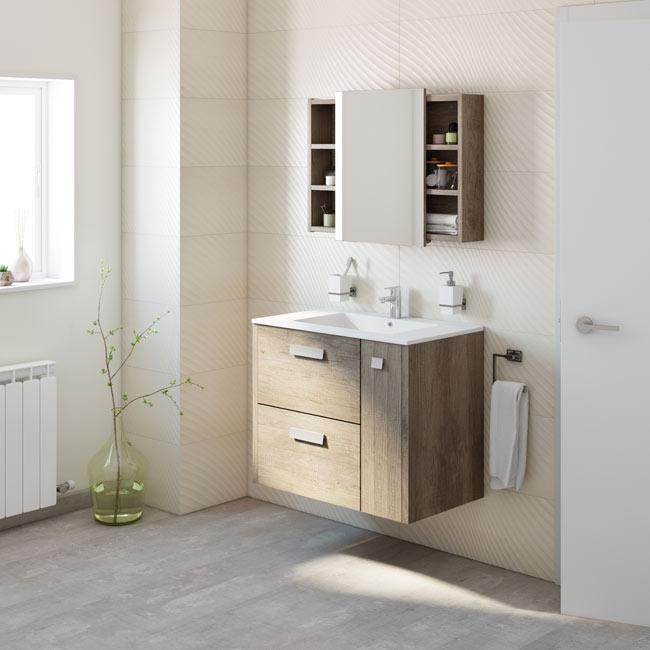 Mueble de lavabo alicia ref 18372095 leroy merlin - Muebles de bano a medida leroy merlin ...