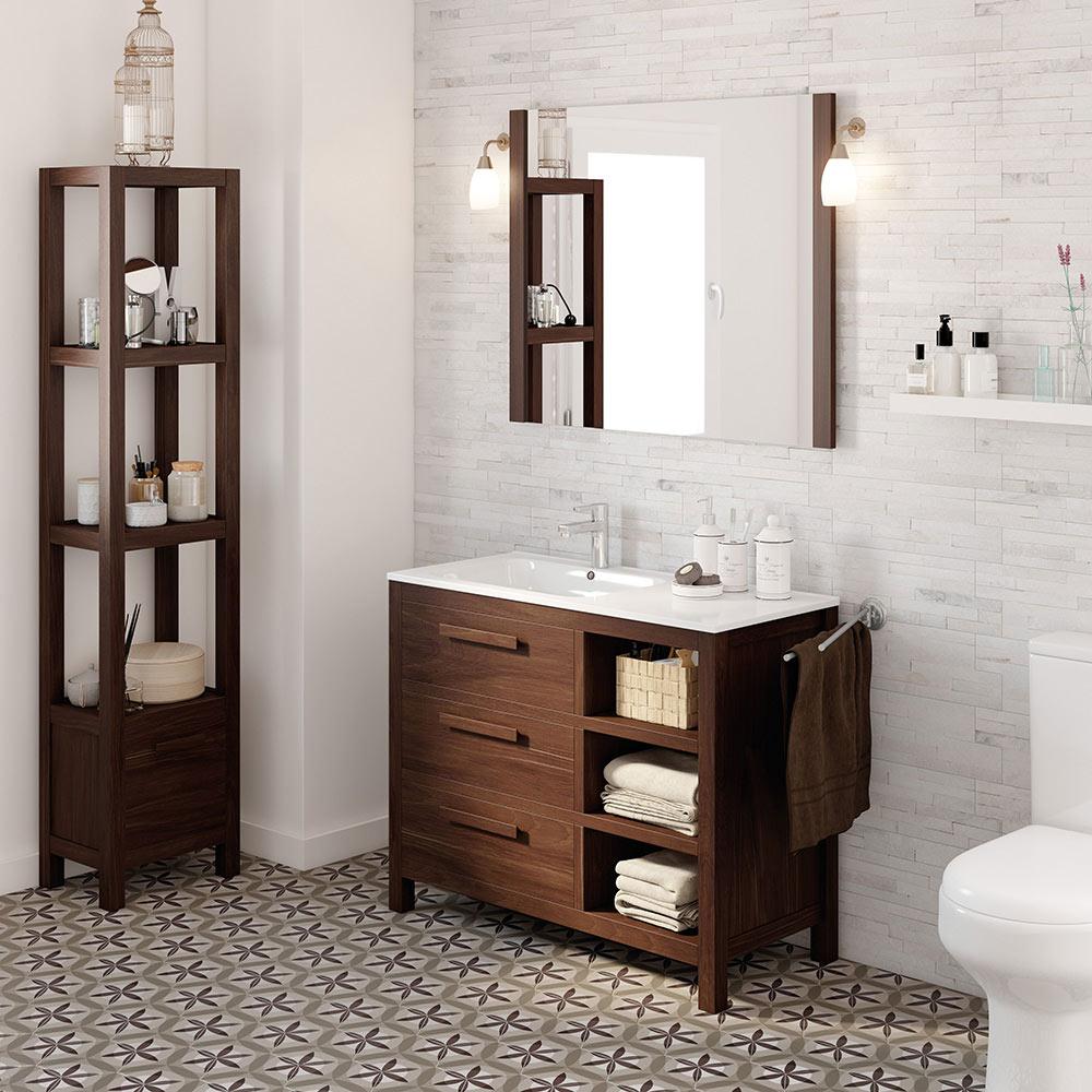 Mueble de lavabo amazonia ref 17863643 leroy merlin for Mensola lavabo leroy merlin