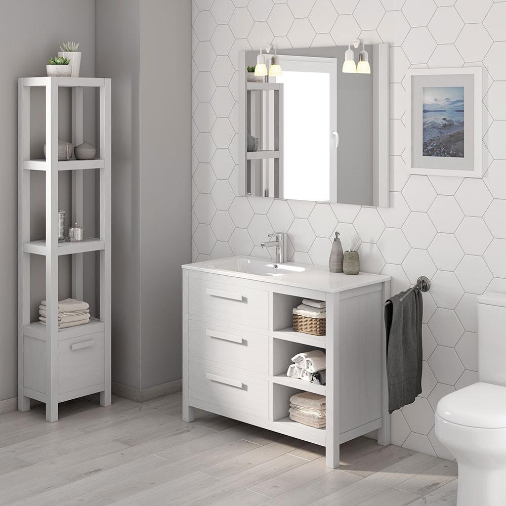 Mueble de lavabo amazonia ref 17863846 leroy merlin - Muebles de resina leroy merlin ...