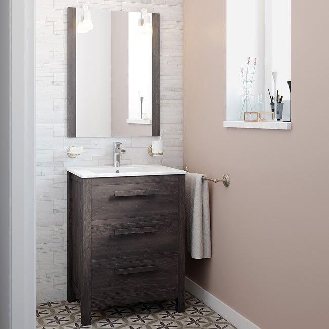 Mueble de lavabo amazonia ref 17863895 leroy merlin for Mueble plancha leroy merlin
