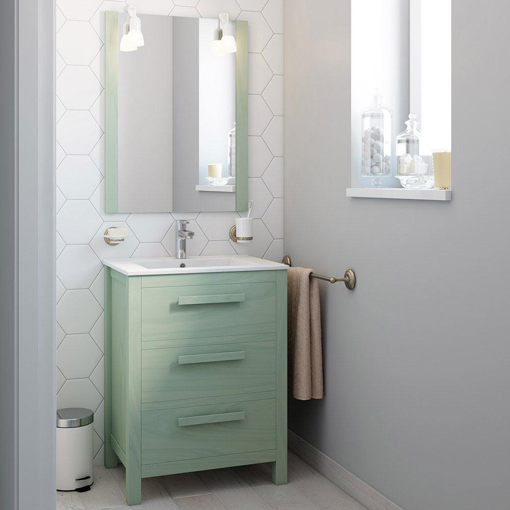 Mueble de lavabo amazonia ref 17863902 leroy merlin for Mueble plancha leroy merlin