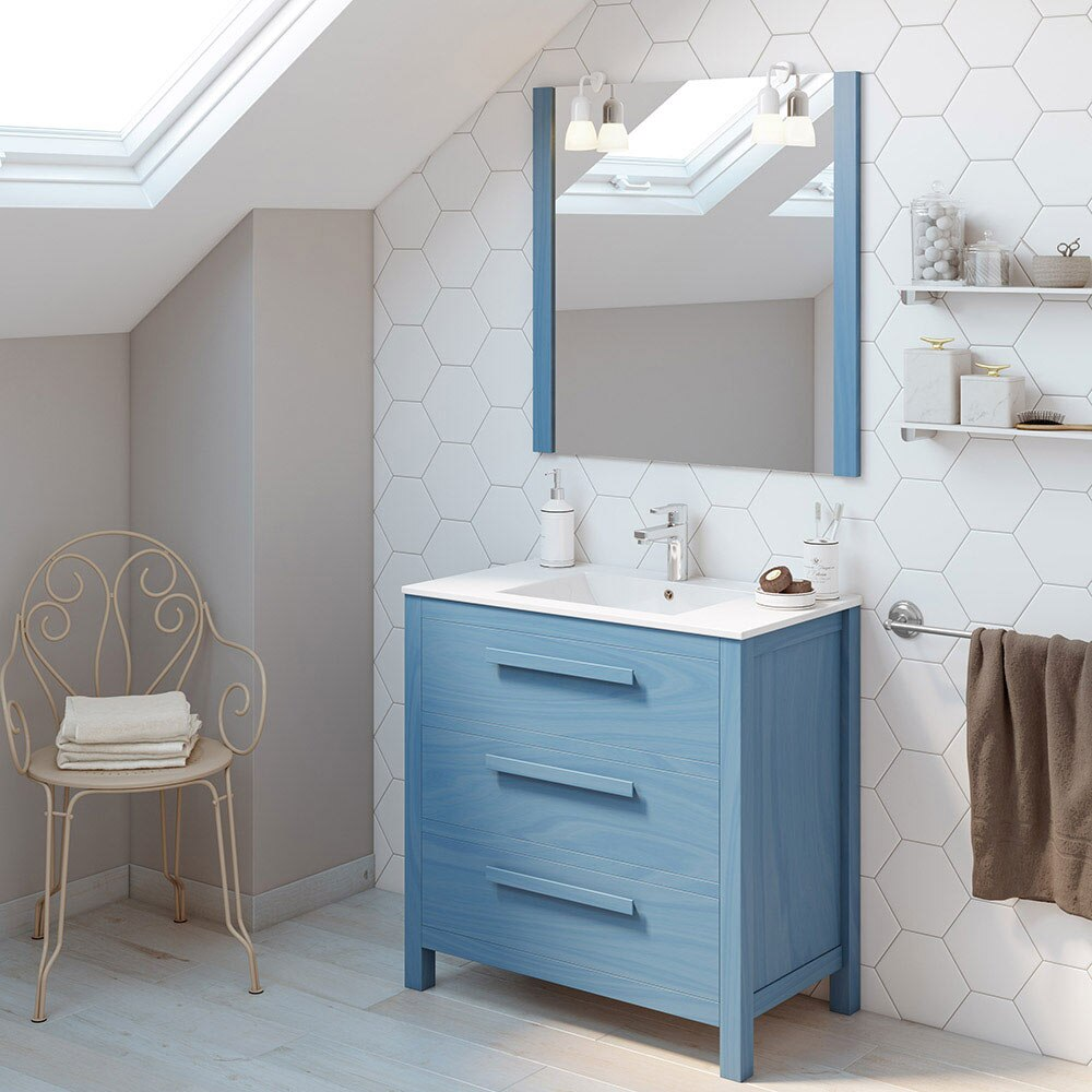Mueble de lavabo amazonia ref 17863930 leroy merlin for Mueble lavadora leroy merlin