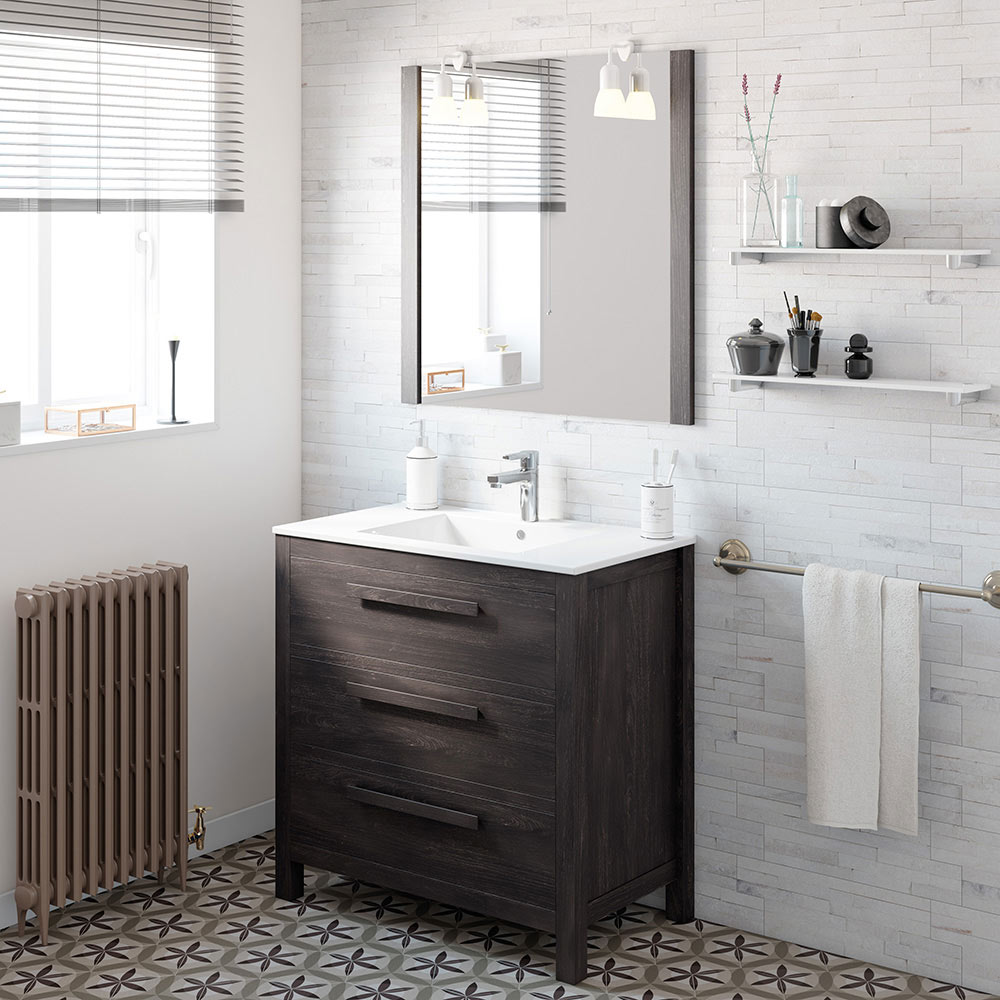 Mueble de lavabo amazonia ref 17863986 leroy merlin for Mueble auxiliar lavabo