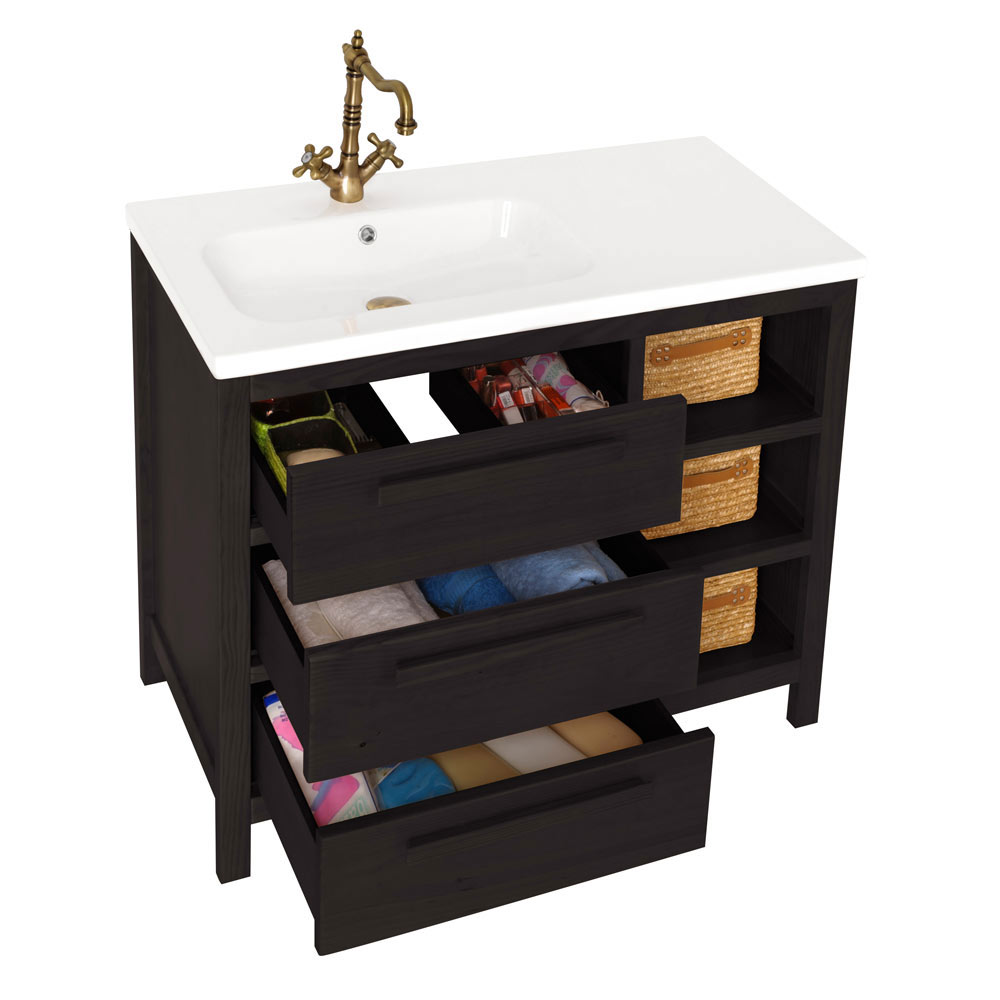 Mueble de lavabo amazonia ref 17863993 leroy merlin for Amazon muebles de bano
