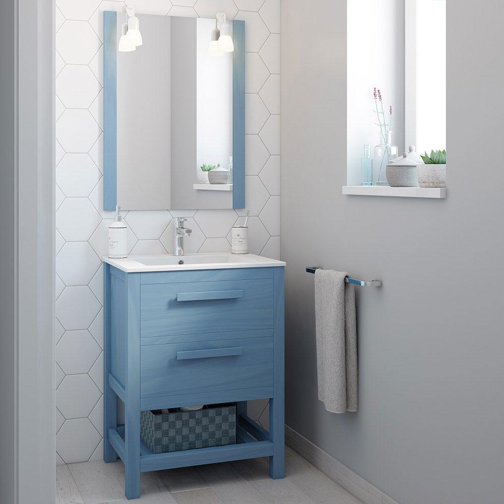 Mueble de lavabo amazonia ref 17864315 leroy merlin for Mueble plancha leroy merlin