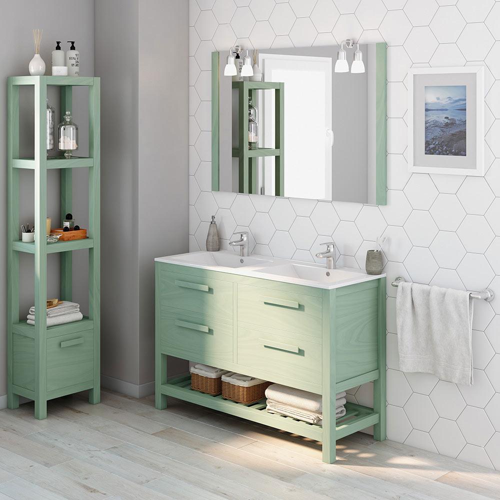 Mueble de lavabo amazonia ref 17864392 leroy merlin - Muebles de resina leroy merlin ...