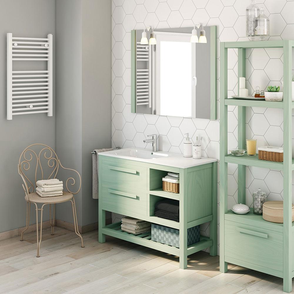 Mueble de lavabo amazonia ref 17864693 leroy merlin for Mueble zapatero leroy merlin