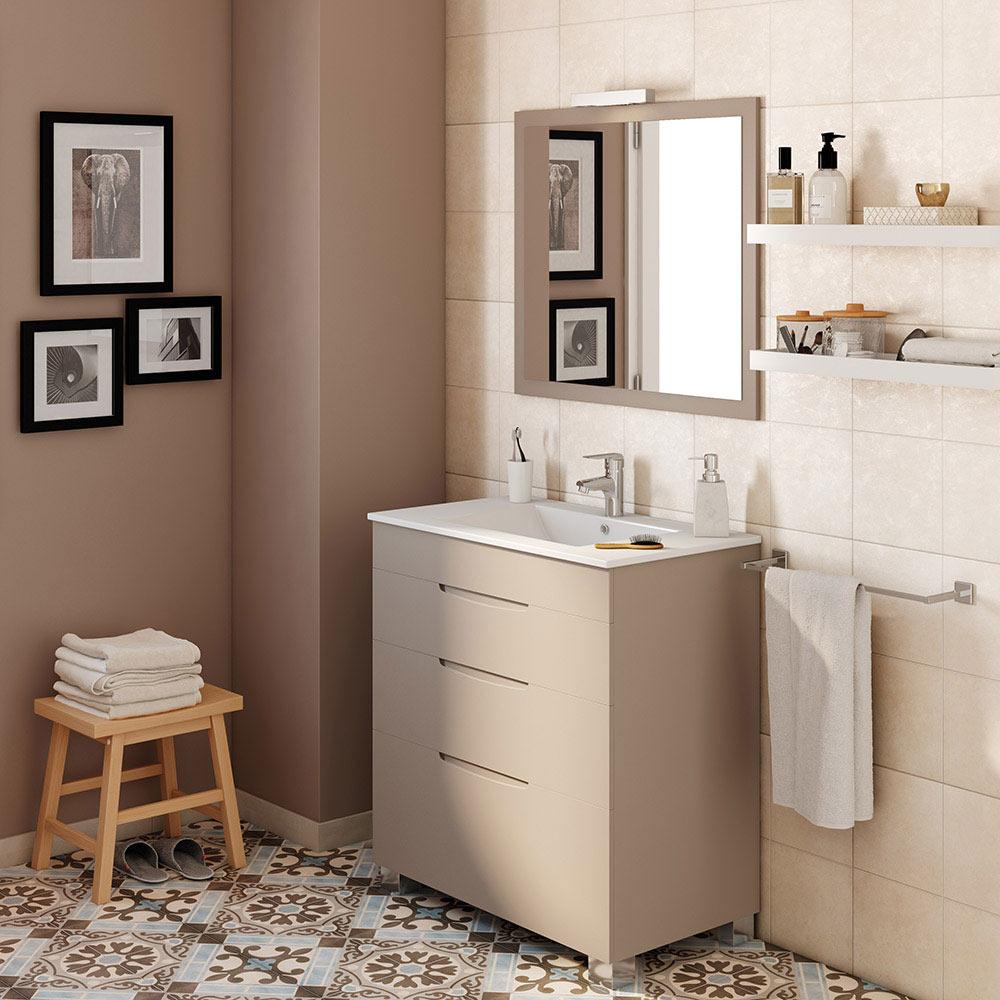Mueble de lavabo asimetrico ref 17620666 leroy merlin for Muebles para debajo del lavabo