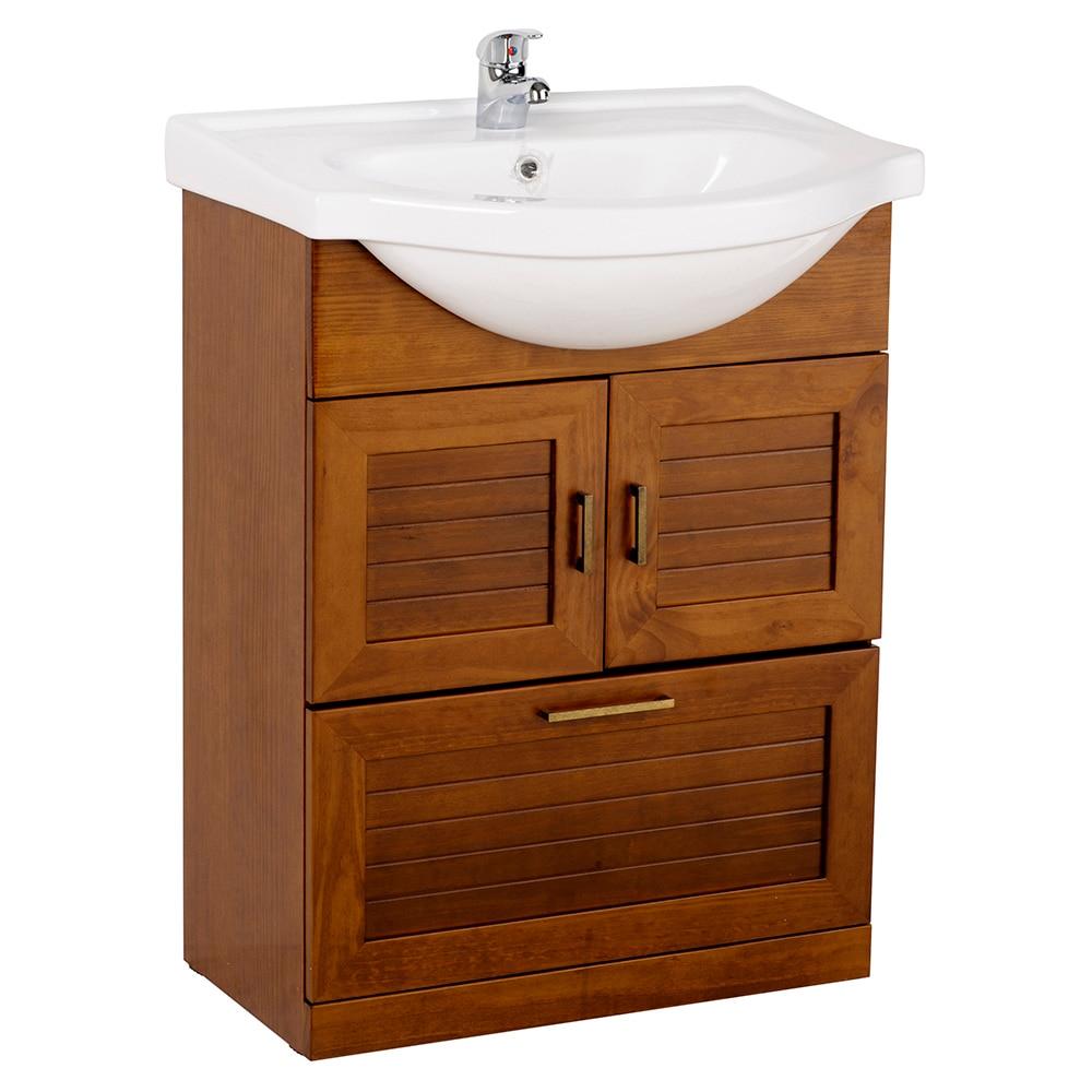 Mueble de lavabo atenas ref 17307031 leroy merlin - Muebles para lavabo con pedestal ...