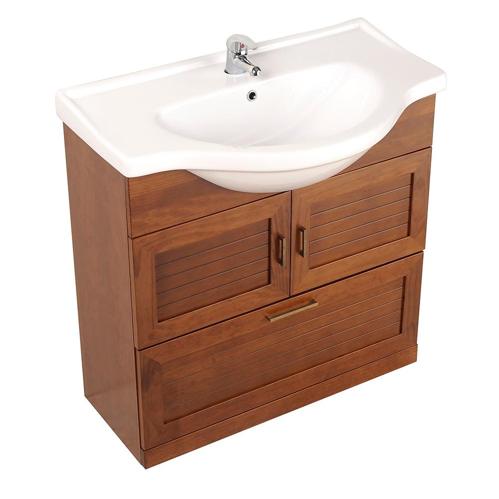 Mueble de lavabo atenas ref 17307066 leroy merlin - Mueble lavabo pie leroy merlin ...