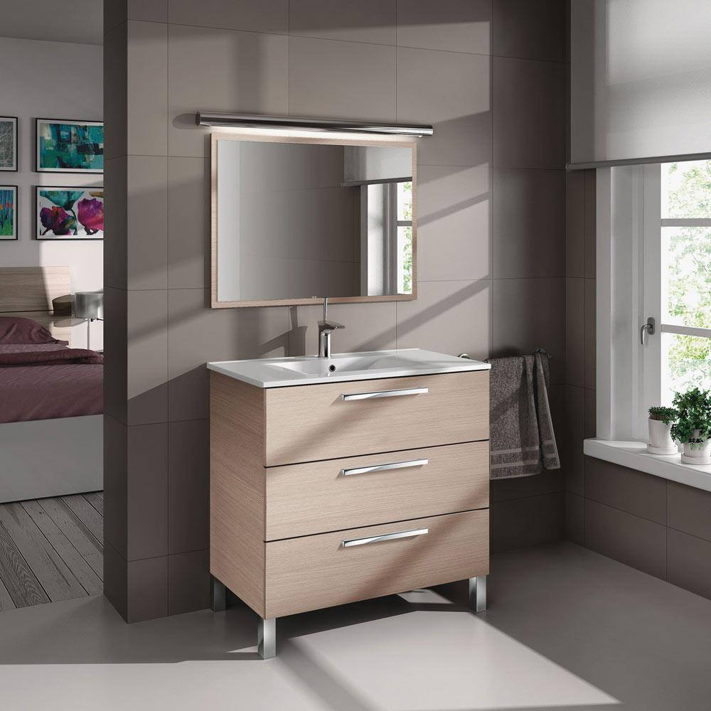 Conjunto de mueble de lavabo athena ref 18636576 leroy for Espejo 80x60 leroy merlin