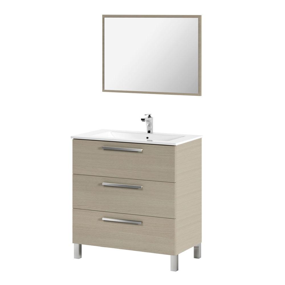 Conjunto de mueble de lavabo athena ref 18636576 leroy - Lavabos de cristal leroy merlin ...