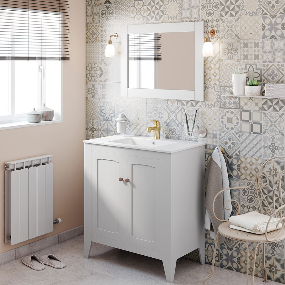 Mueble de lavabo boho ref 17958031 leroy merlin for Mueble auxiliar lavabo