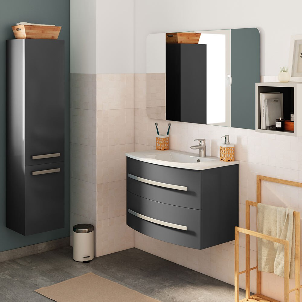 Mueble de lavabo curve ref 17907701 leroy merlin for Lavabo pequeno leroy merlin