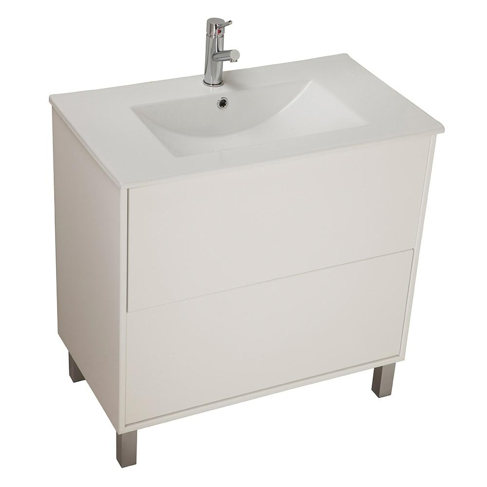 Conjunto de mueble de lavabo dakota ref 14989324 leroy for Mueble zapatero bricodepot