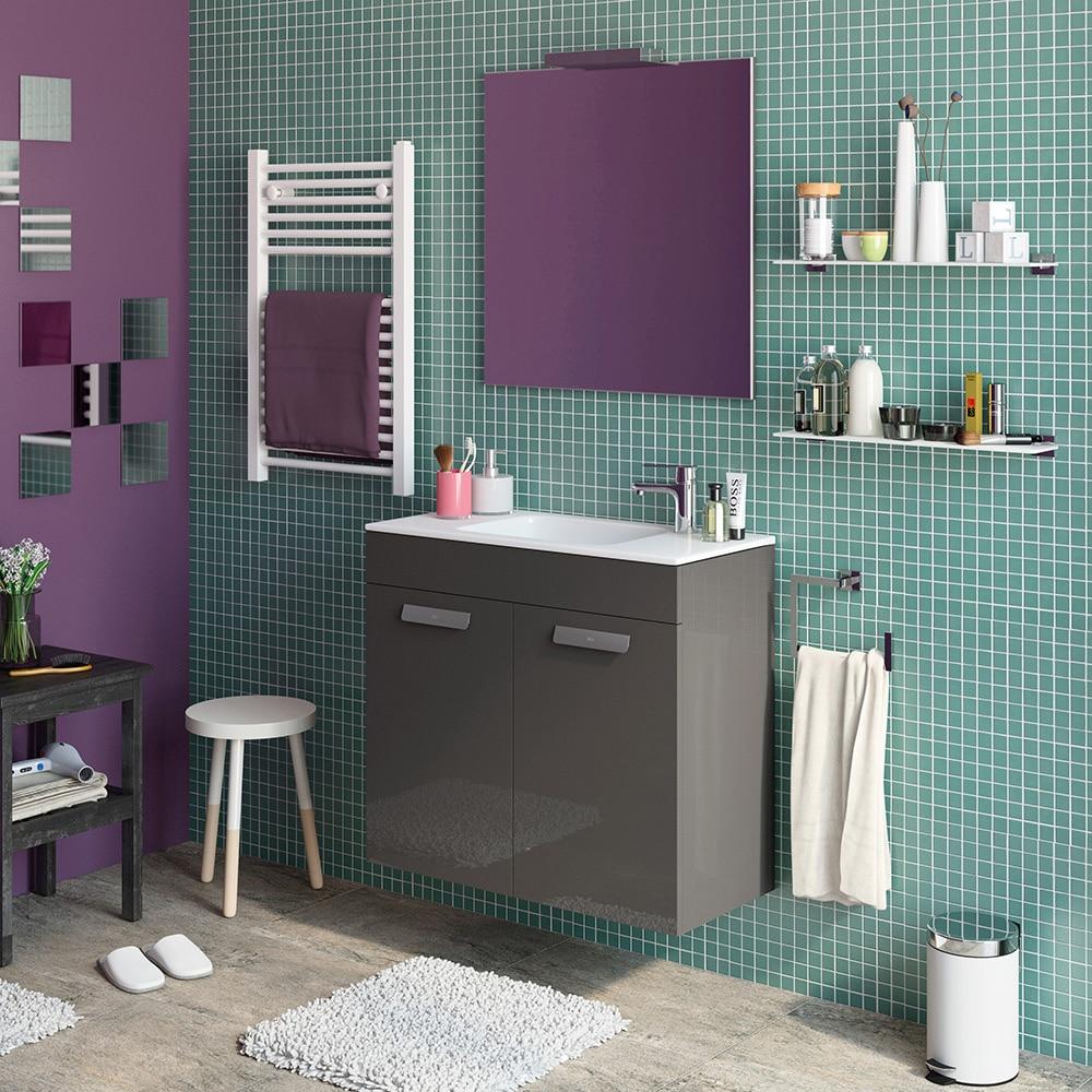 Conjunto de mueble de lavabo debba ref 16859710 leroy for Conjunto mueble lavabo
