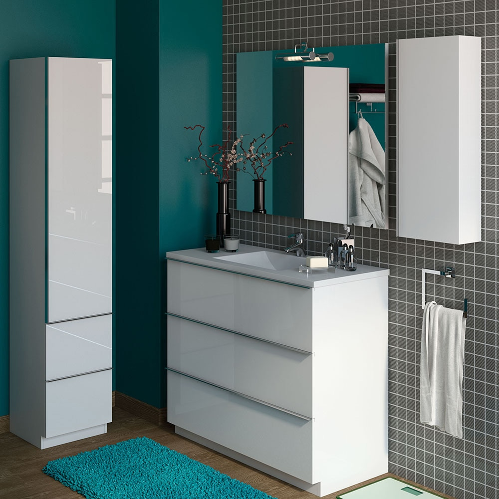 Mueble de lavabo discovery ref 17359825 leroy merlin for Mueble microondas leroy merlin