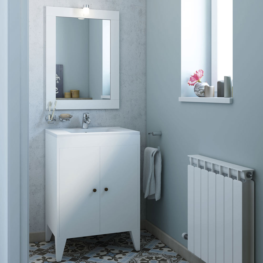 Mueble de lavabo domo ref 18594800 leroy merlin for Lavabos leroy merlin