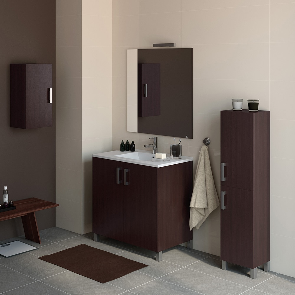 Mueble de lavabo eco ref 16730945 leroy merlin for Muebles de bano rusticos en leroy merlin