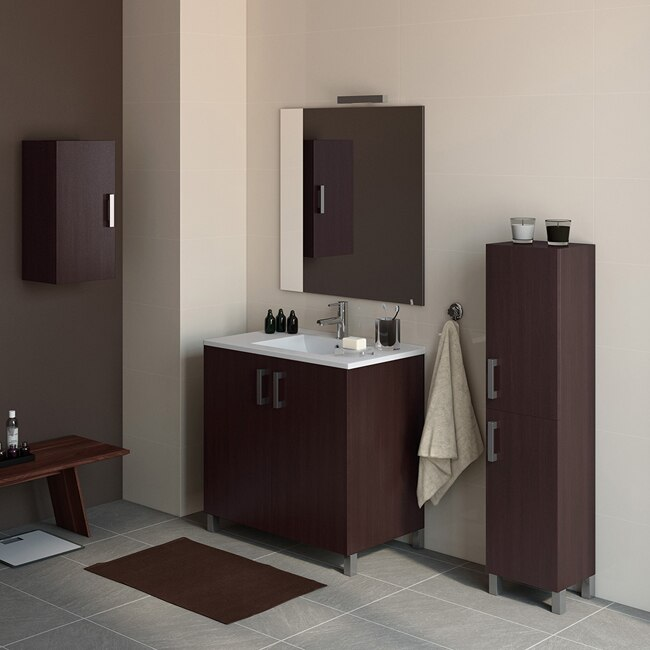 Mueble de lavabo eco ref 16730945 leroy merlin for Lavabo bano leroy merlin