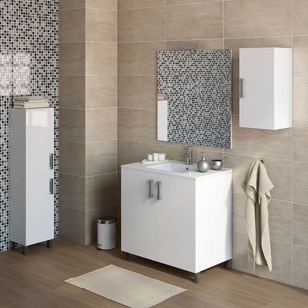 Mueble de lavabo eco ref 16730952 leroy merlin for Lavabo pequeno leroy merlin