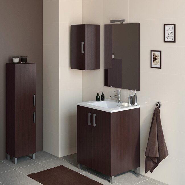 Mueble de lavabo eco ref 16730966 leroy merlin for Columnas de bano leroy merlin