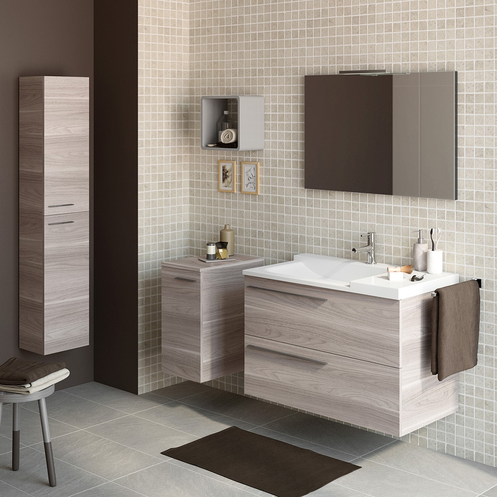 Mueble de lavabo elea ref 15524362 leroy merlin for Lavabo pequeno leroy merlin