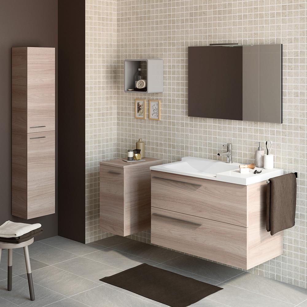 Mueble de lavabo elea ref 16107021 leroy merlin for Lavabo ancien leroy merlin