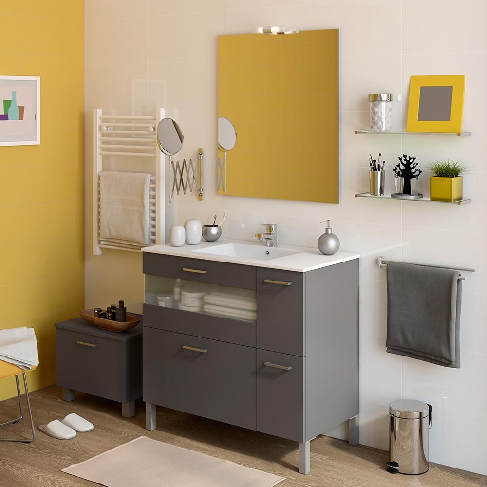 Mueble de lavabo fox ref 16729433 leroy merlin for Mueble lavabo