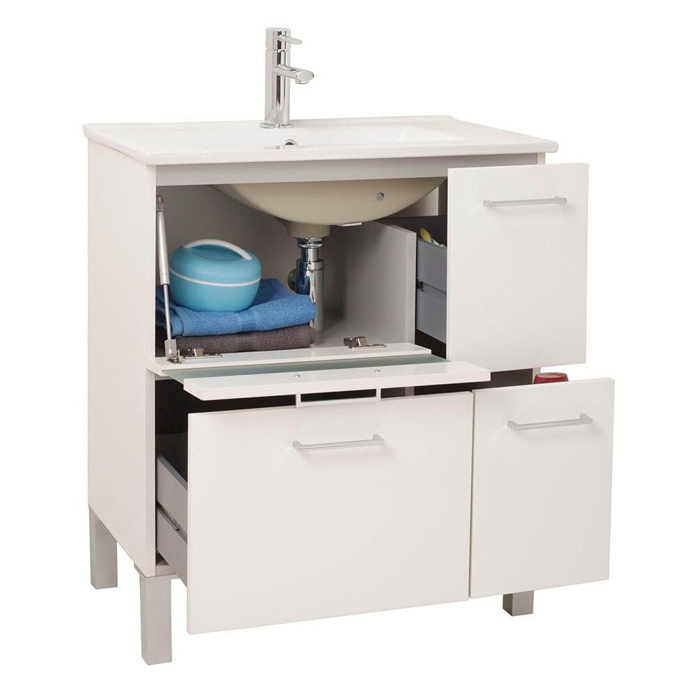 Mueble de lavabo fox ref 16729531 leroy merlin - Mueble de lavabo ...