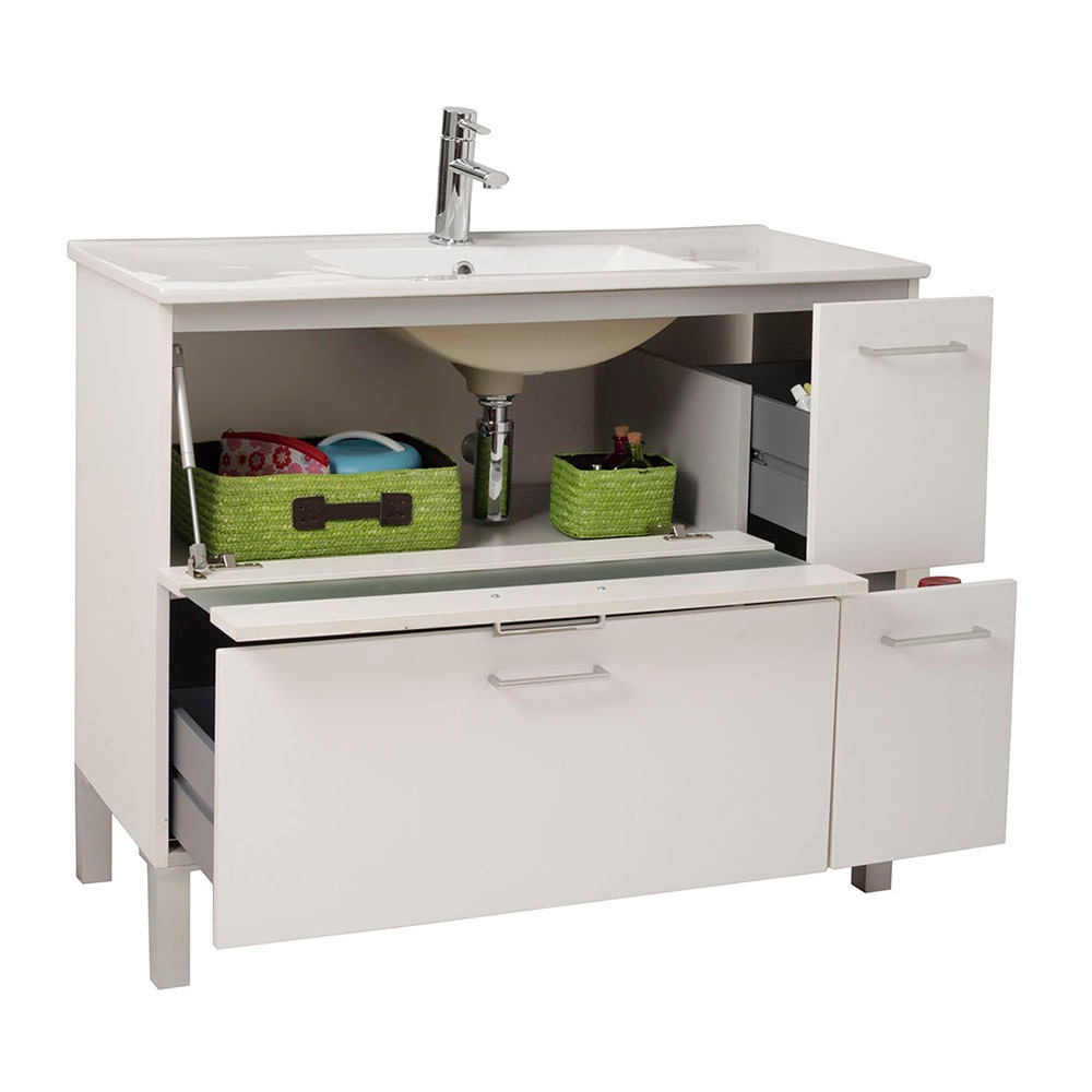 Mueble de lavabo fox ref 16729552 leroy merlin for Mueble libreria leroy merlin