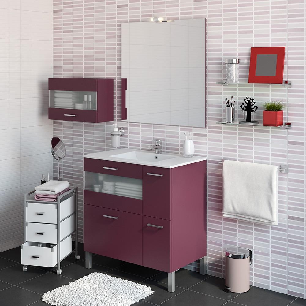 Mueble de lavabo fox ref 16729643 leroy merlin - Lavabo colonne leroy merlin ...