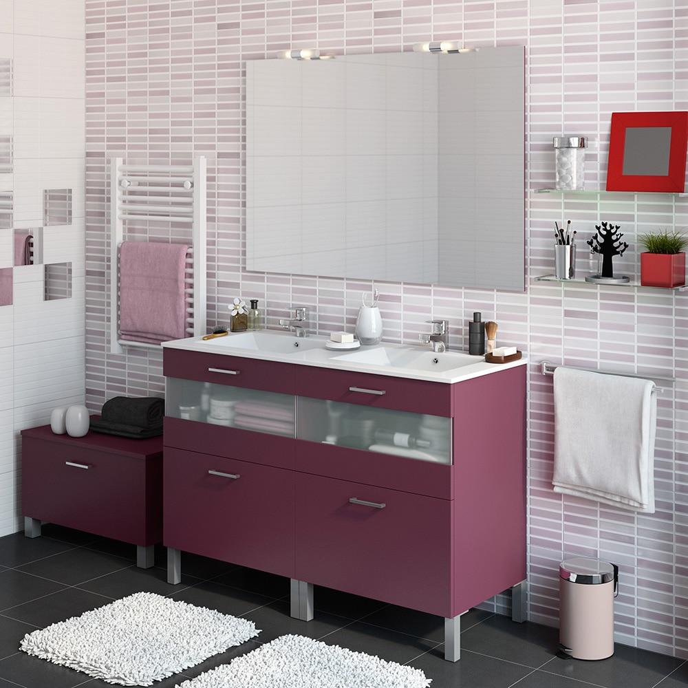 Mueble de lavabo fox ref 16729685 leroy merlin for Mueble lavabo leroy