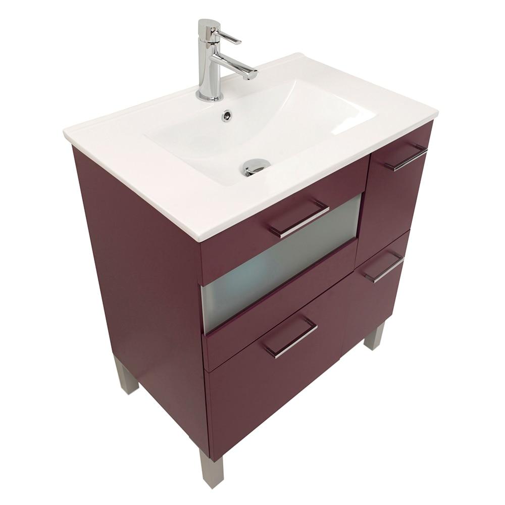 Mueble de lavabo fox ref 16729783 leroy merlin - Mueble lavabo pie leroy merlin ...