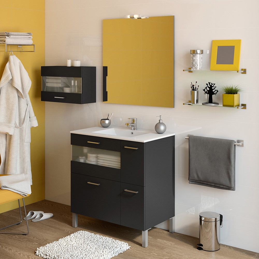 Mueble de lavabo fox ref 16729811 leroy merlin for Mueble lavabo leroy