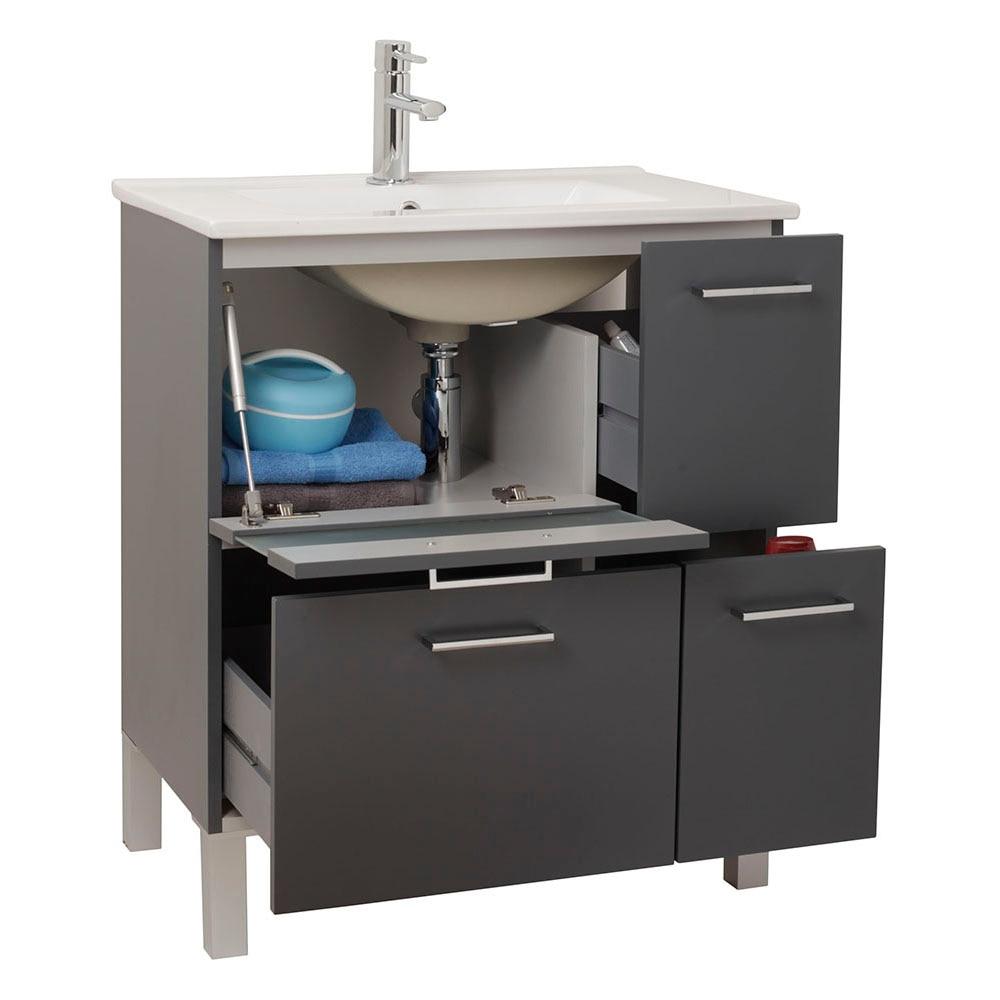 Mueble de lavabo fox ref 16729825 leroy merlin for Mueble plancha leroy merlin