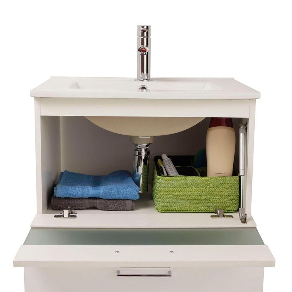 Mueble de lavabo fox ref 16729944 leroy merlin for Mueble lavabo