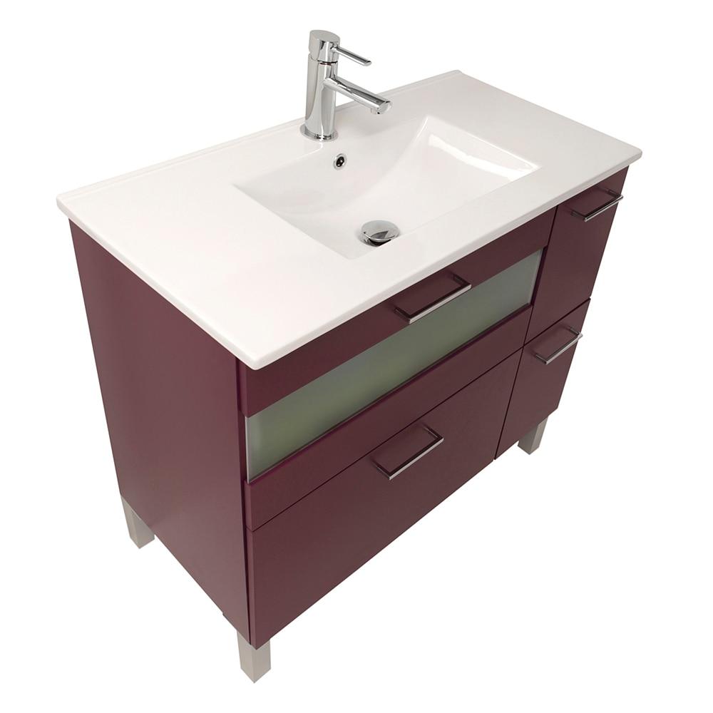 Mueble de lavabo fox ref 16729986 leroy merlin for Lavabos leroy merlin