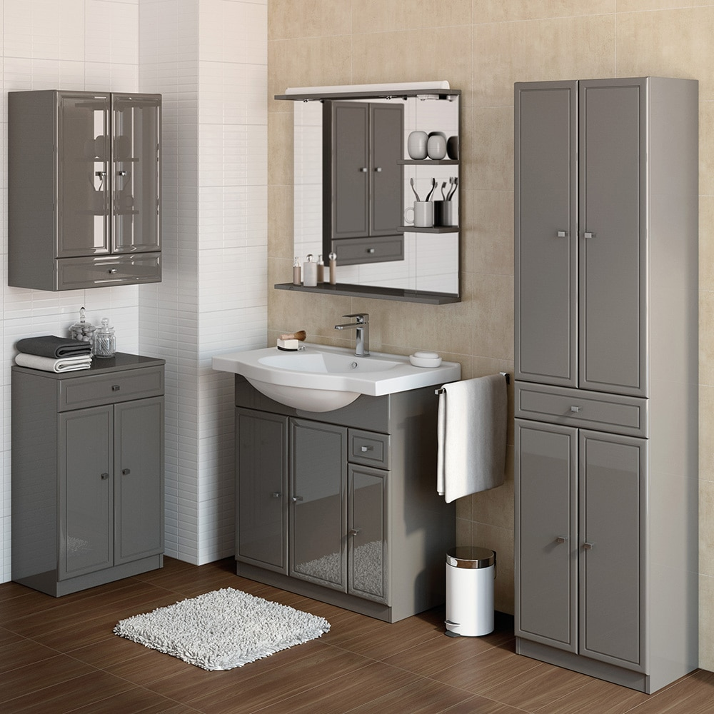 conjunto de mueble de lavabo galice ref 16729293 leroy merlin. Black Bedroom Furniture Sets. Home Design Ideas