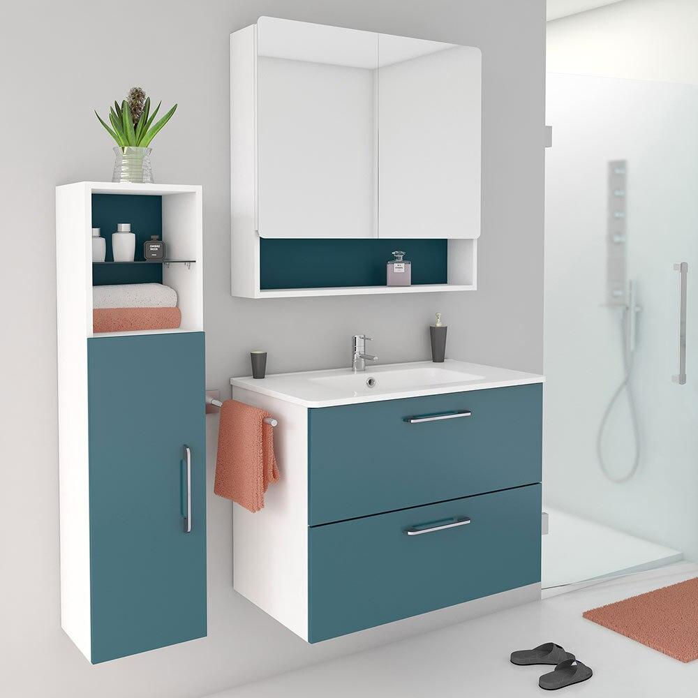 Conjunto de mueble de lavabo happy ref 602201 81866753 - Mueble microondas leroy merlin ...