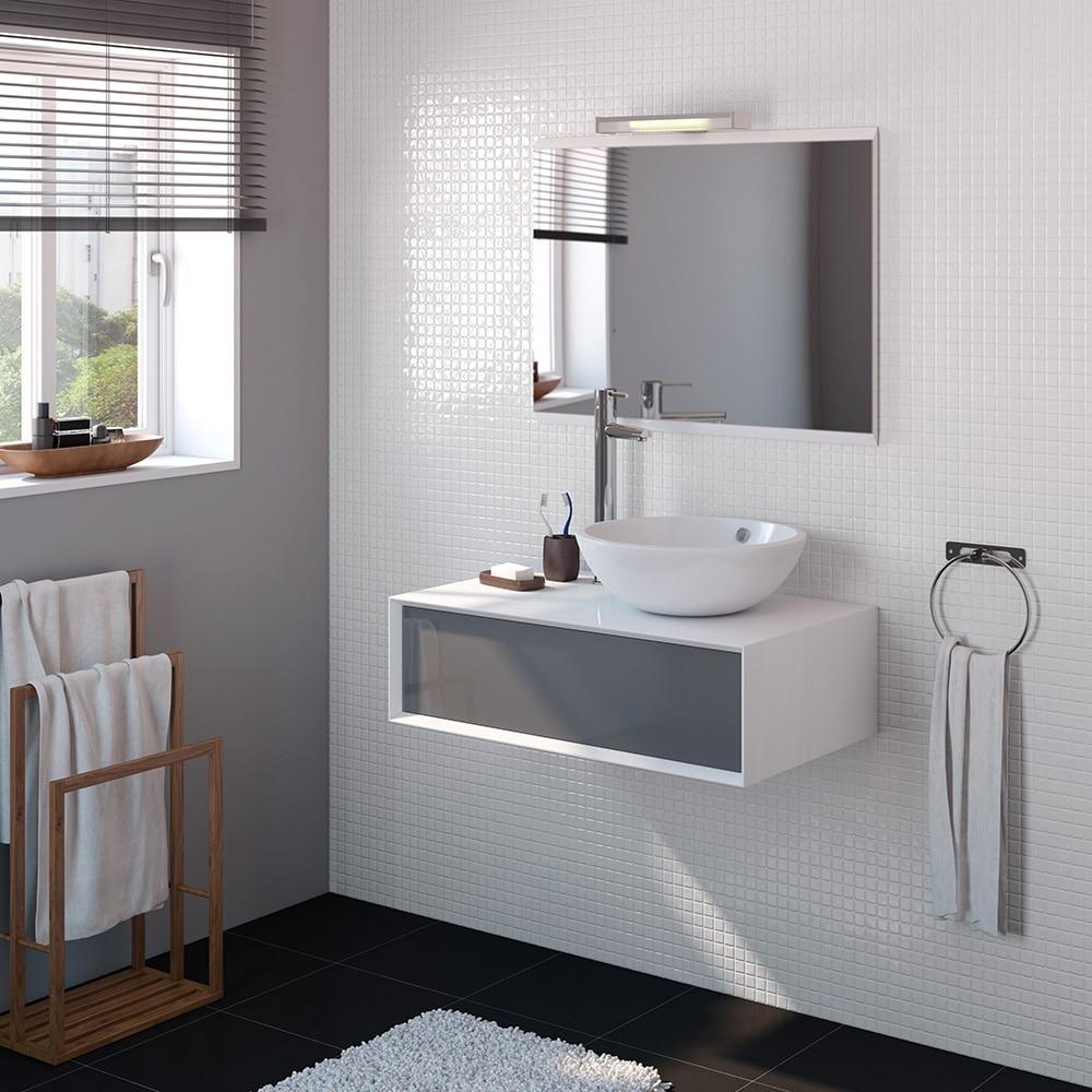 Mueble de lavabo illinois ref 15869903 leroy merlin for Mueble auxiliar lavabo