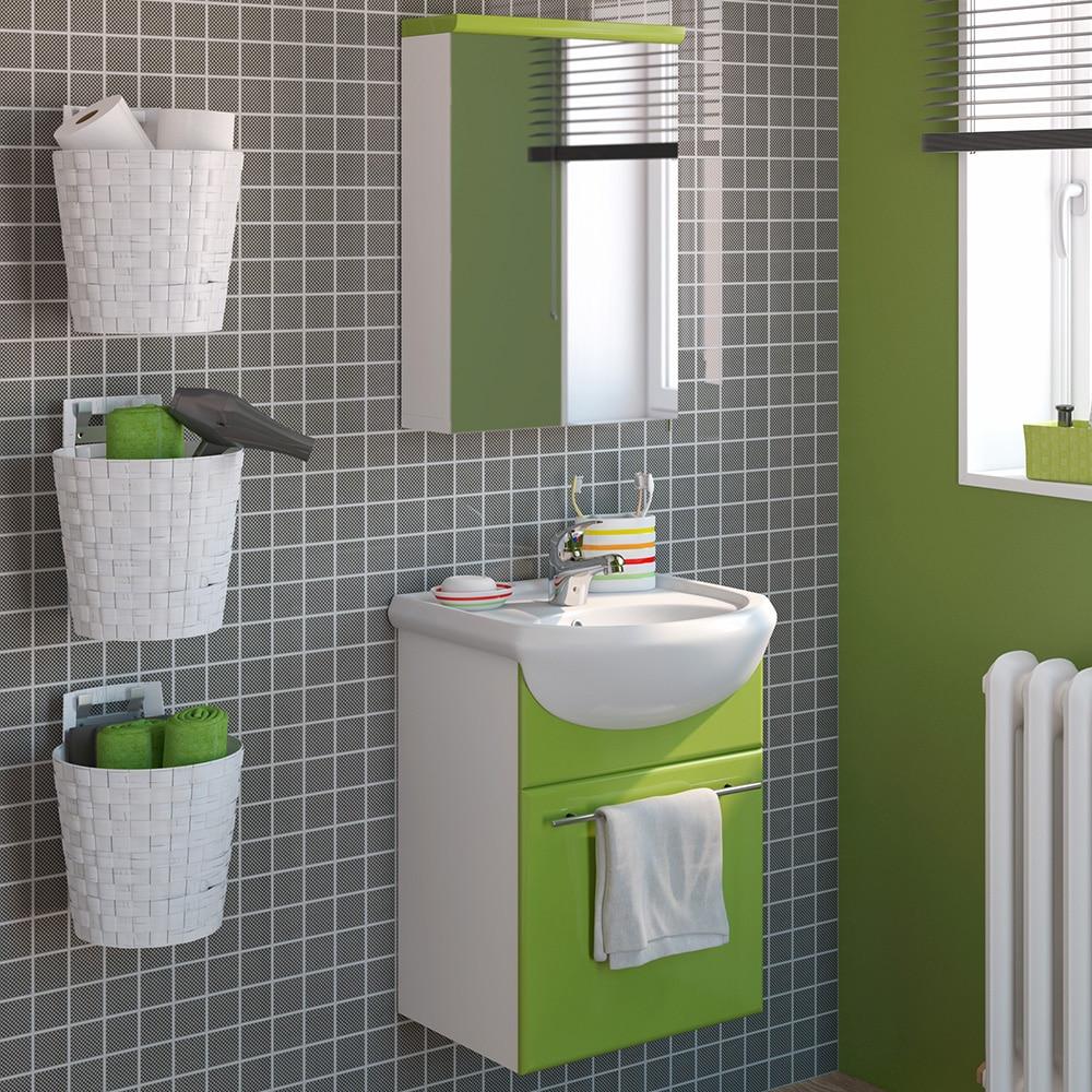 Conjunto de mueble de lavabo infinity ref 16106965 for Armarios bano leroy merlin