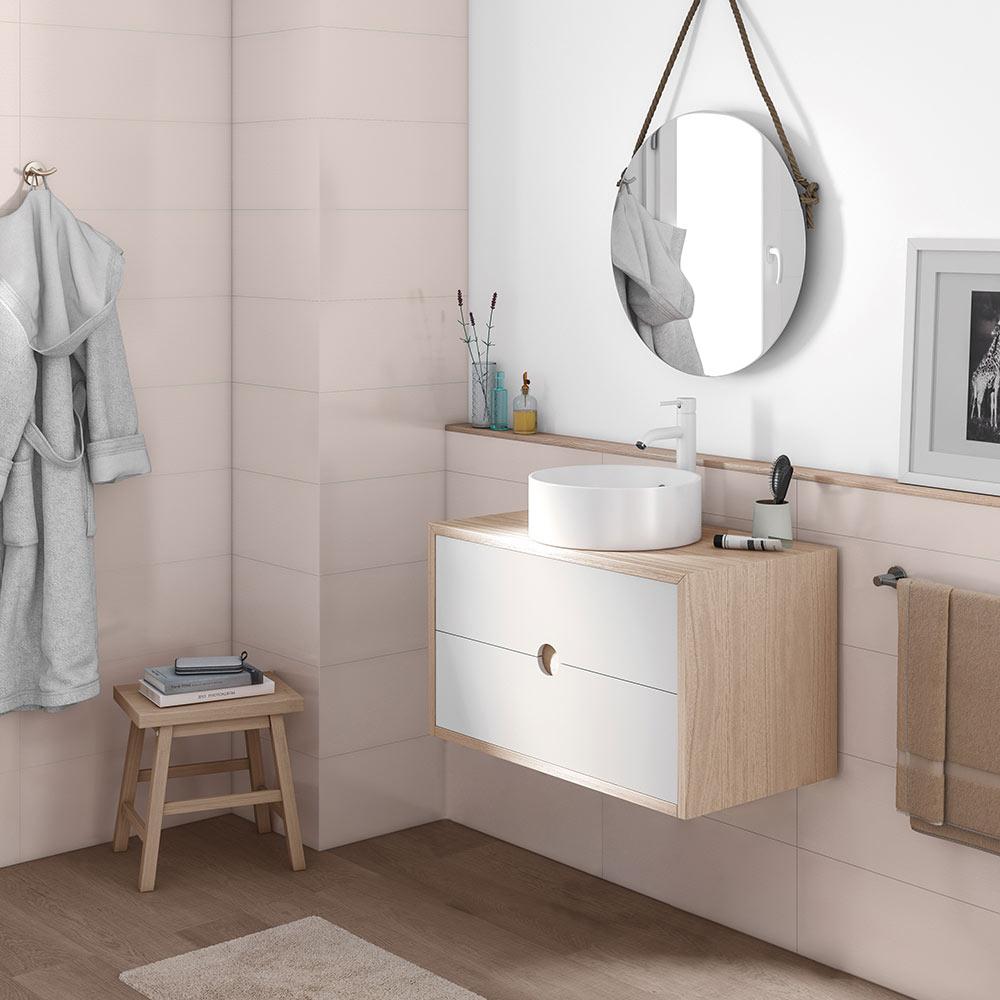 Mueble de lavabo kompas ref 19372584 leroy merlin for Muebles de bano pequenos leroy merlin