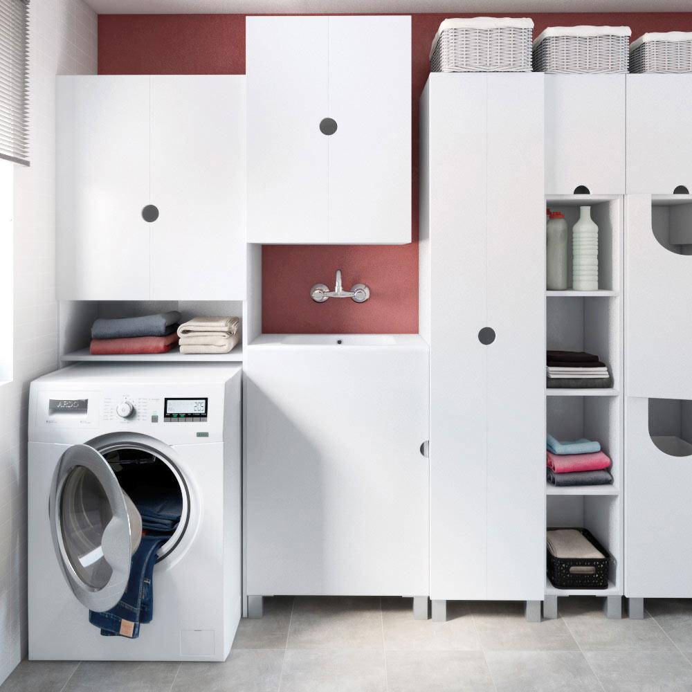 Mueble de lavabo lavanderia ref 17512180 leroy merlin for Mueble para lavadora ikea