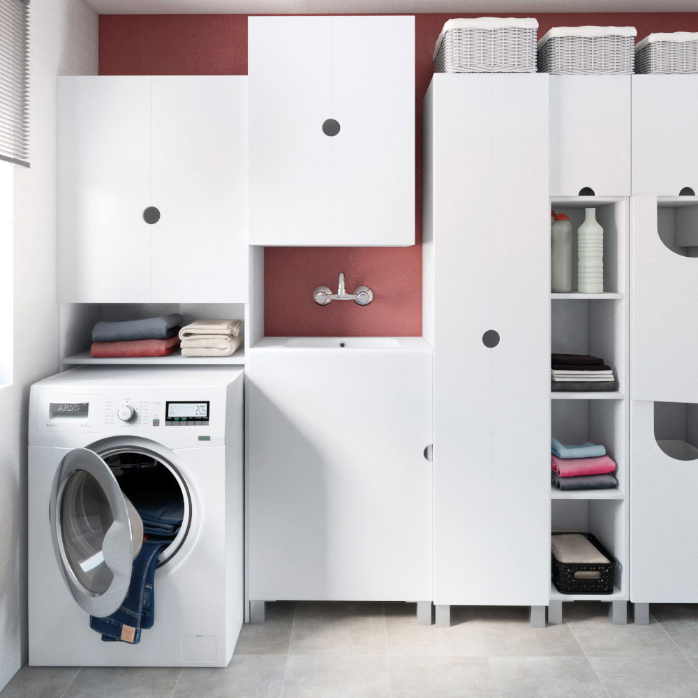 Mueble de lavabo lavanderia ref 17512180 leroy merlin for Tu mueble catalogo
