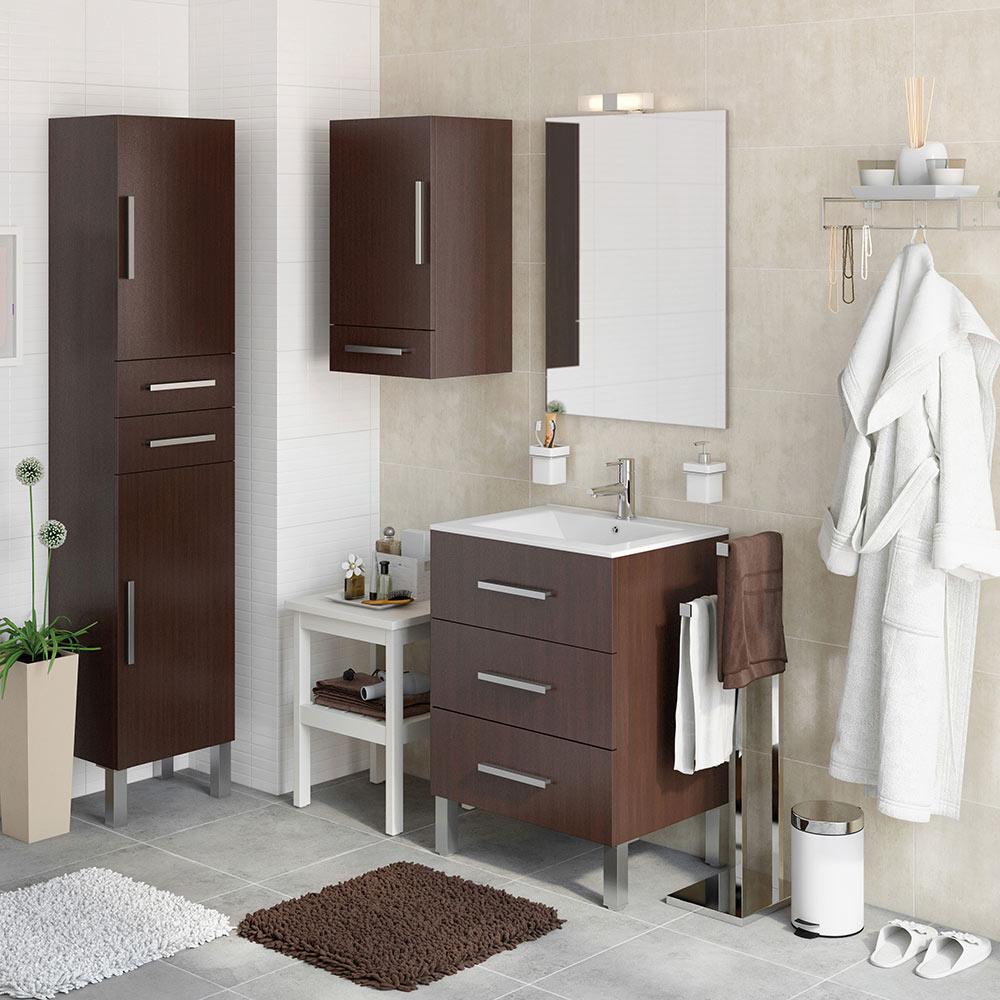 Mueble de lavabo madrid ref 18105360 leroy merlin for Vinilos azulejos bano leroy merlin